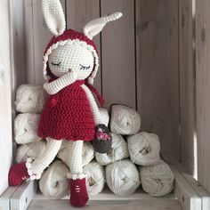 crochet red riding hood Bunny, a crochet toy for a newborn or child gift, newborn photo prop or photo session Crochet Toys Patterns, Amigurumi Patterns, Stuffed Toys Patterns, Amigurumi Toys, Knitted Bunnies, Mercerized Cotton Yarn, Crochet Rabbit, Crochet Buttons, Plush Pattern