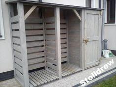 Drewutnia na drewno+domek narzedziowy dach prost