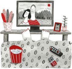 Feel good movies // Vida Simples by Paola Saliby, via Behance