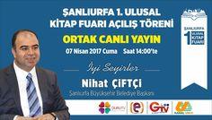 Şanlıurfa 1.Ulusal Kitap Fuarı Bugün 14.00'te Açılıyor. Açılışı; Duru TV, Edessa TV, Güneydoğu TV ve Kanal Urfa'dan canlı izleyebilirsiniz 📺