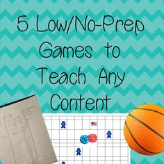 5 great games for any math classroom that are low-prep and will work with questions you pull from study guides, etc...!