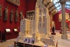 La maquette de la Merveille du Mont Saint Michel restaurée,  Cité de l'architecture, avril 2015