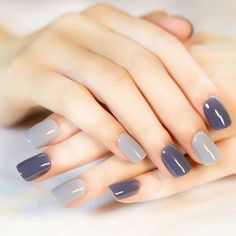 Elegant Nail Art Design for Perfect Winter Ideas - Nail art designs Classy Nails, Stylish Nails, Simple Nails, Trendy Nails, Cute Nails, Grey Nail Art, Gray Nails, Elegant Nail Art, Nails Now