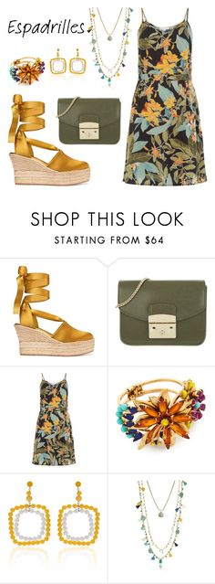 """Tropical Sun"" by leiastyle on Polyvore featuring Tory Burch, Furla, Elizabeth Cole and Marni"