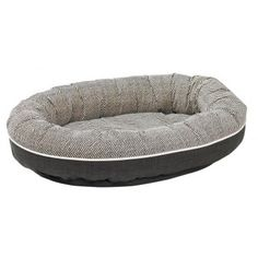 Herringbone designer bolster dog bed with two tone pattern - Bowser