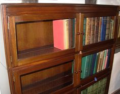 Vintage Minty Glazed Bookcase