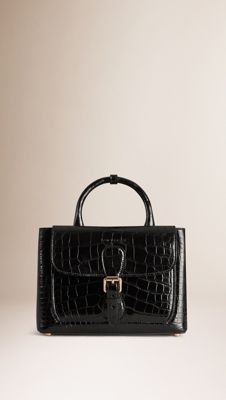 The Small Saddle Bag in Alligator