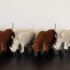Fred Jr. Medium Moose Trophy White or Brown by CardboardSafari