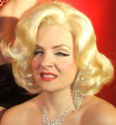 "Professional Marilyn Monroe Impersonator Wig ""Diamonds Are A Girl's Best Friend"""