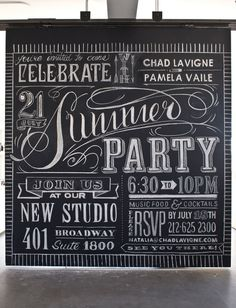 8.5' x 9' chalk invite - by Two Arms Inc