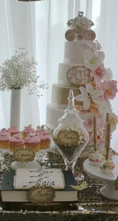 Amazing cake at a MidSummer Night's Dream Baby Shower Party!  See more party ideas at CatchMyParty.com!