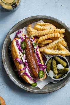 Beer Bratwursts with a homemade dijon coleslaw just in time for grilling season!