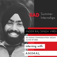 Congratulations Inder! Make the best of your time at Animal and share your experience  with us when you're back on campus. Animal is an independent creative agency working with renowned brands to create identities, advertising, films, events, websites and content with a focus on design and strategy. Their clientele include Google, Adidas, Microsoft, It, Keventers, Lakme, National Geographic, Hyatt, Housing, Nike, NDTV, DLF, Snapdeal, Flipkart, Godrej, Oneplus, ABP, Reebok, and H&M.