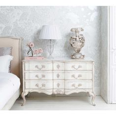 Delphine Distressed Painted Chest of Drawers