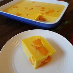 No Bake Mango Mousse Slice . No Bake Mango Mousse Slice Mango Jello Recipes, Mango Dessert Recipes, Refreshing Desserts, Dessert Salads, Fruit Recipes, Dessert Ideas, Recipies, Mango Mousse Cake, Mango Cake