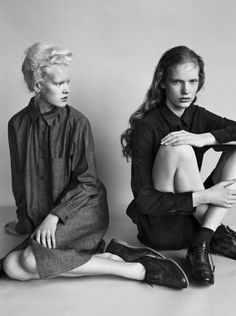 Linn Arvidsson and Anniek Kortleve by Josh Olins for i-D Fall...