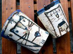 vasos de gatos