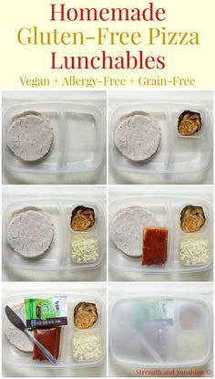 Homemade Gluten-Free Pizza Lunchables (Vegan, Allergy-Free, Grain-Free) | Strength and Sunshine @RebeccaGF666 Lunchables without the scary ingredients! Homemade Gluten-Free Pizza Lunchables that are vegan, allergy-free, & grain-free too! This healthy, kid-loved, and mom-approved make-ahead lunch recipe will make the school year a bit more fun! #glutenfree #vegan