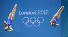 2012 London Olympics and synchronized springboard action.