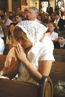 Saint Louis Catholic: The Truth Unveiled: Head Covering Still Obligatory for Women Attending Mass