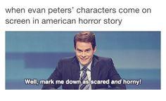 Tumblr AHS funny post, American Horror Story, Evan Peters