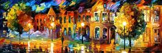 The Reflection of the Night - By Leonid Afremov
