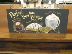 Starbucks Chalkboard Signs by Jennifer Lewis, via Behance