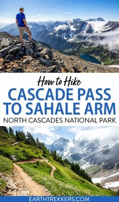 The Cascade Pass and Sahale Arm hike is one of the best day hikes in North Cascades National Park. Here is everything you need to know to have an epic hike (trail photos, stats, maps and more). #northcascades #hiking #sahalearm #adventuretravel