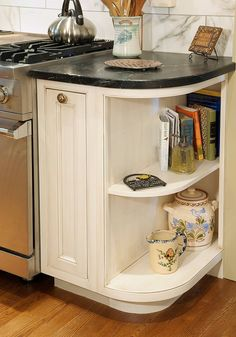 Inspiring Corner Kitchen Cabinet Storage Ideas – Decorating Ideas - Home Decor Ideas and Tips Kitchen Cabinet Shelves, Kitchen Base Cabinets, Kitchen Cabinet Design, Kitchen Redo, New Kitchen, Kitchen Storage, Kitchen Remodel, Corner Storage, Cheap Kitchen