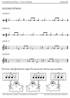 Curso 2014/2015 Music For Kids, Piano, Sheet Music, Musicals, 1, Math, Primary Music, Music Activities, Music Education