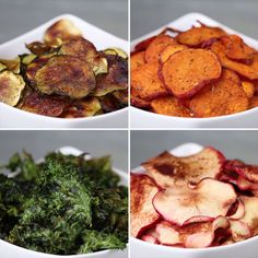 Baked Fruit & Veggie Chips 4 Ways cooking healthy with kids clean eating Veggie Recipes, Low Carb Recipes, Vegetarian Recipes, Snack Recipes, Cooking Recipes, Healthy Recipes, Healthy Chips, Healthy Movie Snacks, Recipes Dinner