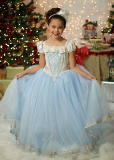 Ice Queen Costume Ball Gown Princess Party Dress by Ella Dynae, $250.00 #snow #christmas