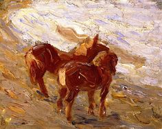 Horses by the Sea Franz Marc - 1907