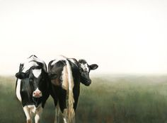 Sold | Boxed calves, oil/canvas 24 x 32 inch (60 x 80 cm) © 2009 Klimas
