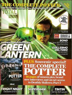Total Film,Marvel,Green Lantern,Harry Potter,Superman,TinTin,007,Hobbit 2011~NEW British Magazines, World Movies, Super Heros, The Hobbit, Magazine Covers, Comebacks, Superman, Lantern, Bond