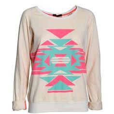 Maison Scotch Tribal printed sweatshirt found on Polyvore