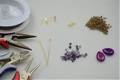 How to make stud earrings-needed materials