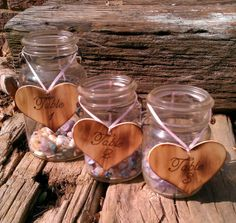 Rustic Wedding Table Numbers  Set OF 6  by WildFireFlies on Etsy,
