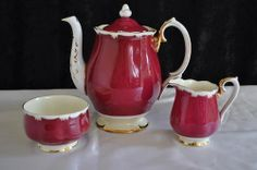 English - Royal Albert 11 Piece Coffee Set. --- 4 Duo's - Coffee Pot -- Milk Jug --- Sugar Bowl for sale in Johannesburg (ID:136008209)