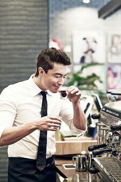 corporate dream man + espresso coffee