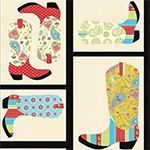 Free Western Boot applique quilt pattern. I love this quilt pattern!