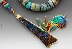 inlaid gemstones