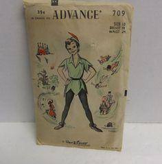 Disney's Peter Pan Halloween Costume Sewing Pattern - 1953