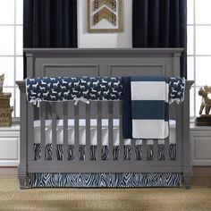 Navy Woodland Crib Bedding Set