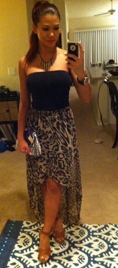 Leopard High Low Skirt