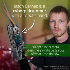 Jason Barnes Drums With A Musically Programmed Robotic Hand