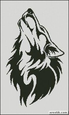 Volk2 scheme download monochrome embroidery, animal wolf