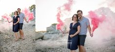 Gender Reveal with Smoke Bombs