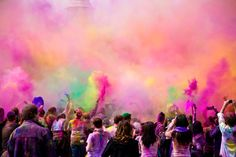 High-Res Stock Photography: Holi Festival of Colors