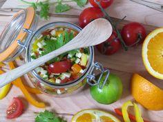 Sweet Pepper Sunshine Salsa ~ naturally gluten-free via GlutenFreeGigi.com